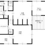 1階平面図、ワンちゃんのお部屋があります