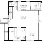 2階平面図、広々バルコニー