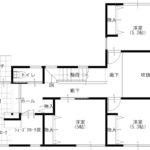 3階平面図、全室収納付き